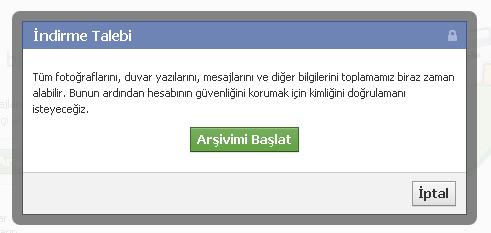 facebook profil yedekleme2